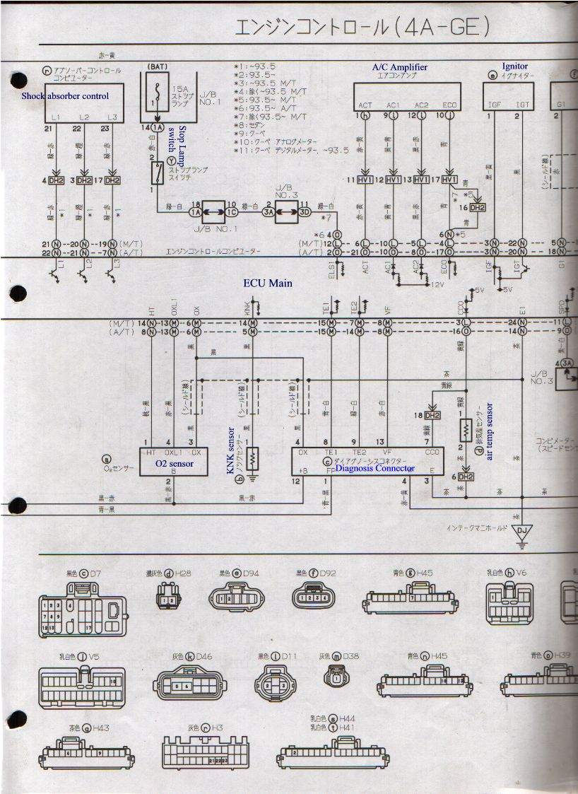 5sfe Distributor Wiring Diagram 4age Search For Diagrams Ecu 20v 4a Ge Silver Head Japan 16v